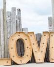 Love letters verlicht huwelijk bruiloft