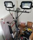 LED Bouwlamp op statief 2x15W