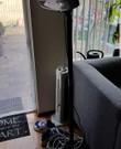 Elektrische terrasverwarmer 1000 watt