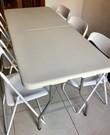 Tafel met 6 stoelen, opklapbaar