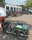 Open, lichtgewicht fietskar, merk Burley