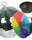 Disco lamp spiegelbol met kleurenlamp