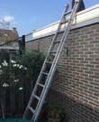 Uitschuifbare Ladder tot 4,50 m.