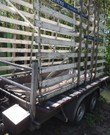 Aanhangwagen met frame voor glas en plaatmateriaal