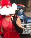 Charleston jurk rood maat 38/40