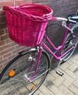 Vrouw fiets.