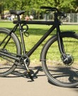 VanMoof fiets - zwart / single speed / event. kinderzitje