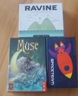 3 pack bordspellen (Muse,Ravine,Space Team)