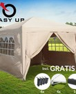 Partytent met zijwanden, Easy up 3x3 meter