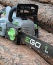 Kettingzaag EGO op Accu met snellader