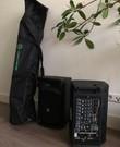 Compacte PA-set met mics en draagzak