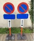Parkeersverbodsborden met voet (prijs per weekend)