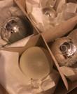 Kerstballen (glas, zilver/wit)
