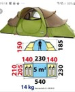 Tent Quechua base seconds 4.2