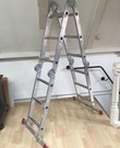Vouwladder in A stand 1,70 m in ladderstand 3,45m