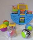 Babyspeelgoed ter stimulering van de zintuigen - vanaf 3 maanden.