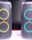 2x JBL portable speaker PartyBox 300 Draadloze speaker voor tuin, huis, boot en kinderfeestjes
