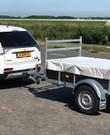 Full-size aanhangwagen zonder huif