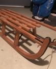 Stevige houten slee