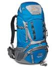 Backpack met regenhoes en flightbag
