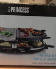 Gourmetstel Raclette 8 oval stone & grill party van Princess