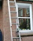 Uittrekbare ladder 2x10 sporten