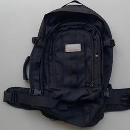 2-in1 zwarte backpack weekendtas 40-60 ltr