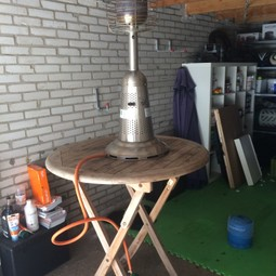 Set van 2 terrasheaters - hangend en tafelmodel