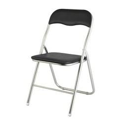 Klapstoel zwart 12 stuks