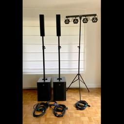 Pro geluidsset voor DJ of live sound