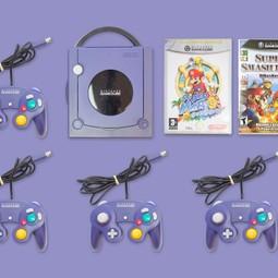 Nintendo Gamecube (NGC) + 4 Controllers + 2 Games naar keuze