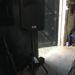 Dj Speaker  inclusief microfoon en usb+aux aansluiting