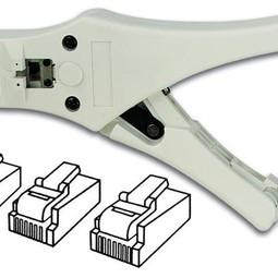 Krimptang voor RJ10/RJ11/RJ45 connectoren