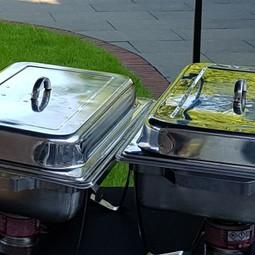 Chafing dish incl 2 of3 inzetbakken en 2 branders (2uur)