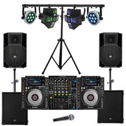 Party set: Licht, geluid, dj set voor 150 personen