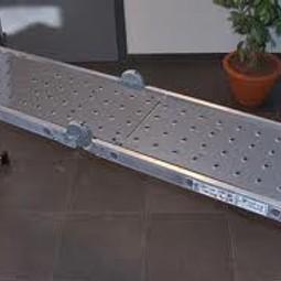 Vouwladder 4x3 inclusief steiger