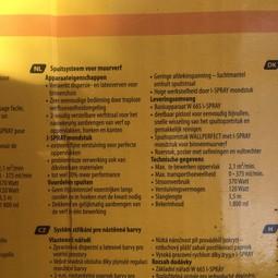 Elektrische verfspuit Wagner wall-spray voor muurverf