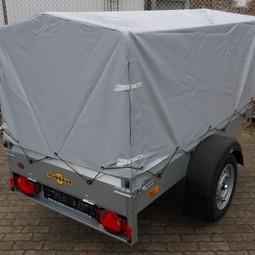 Aanhangwagen (rijbewijs B) met afneembare huif, 1x2m