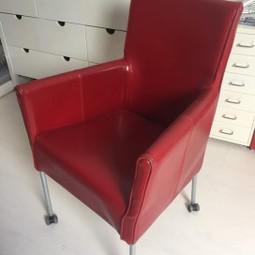 5 Design eetkamer stoelen kwaliteit rood leer