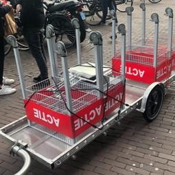 BETER (groter) DAN EEN BAKFIETS: Grote fietsaanhanger voor kleine en grote/zware transporten of verhuizingen