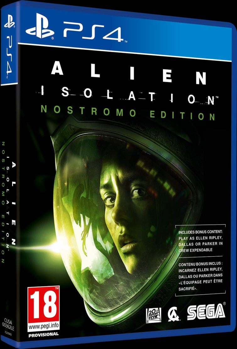 Alien Isolation Nostromo edition ps4