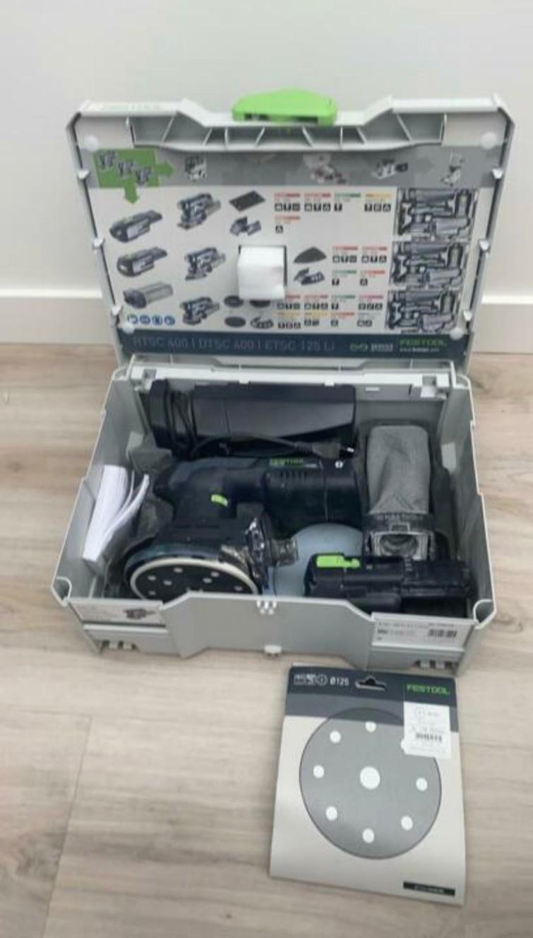 Festool ETSC 125 Set 18V accu excenterschuurmachine set