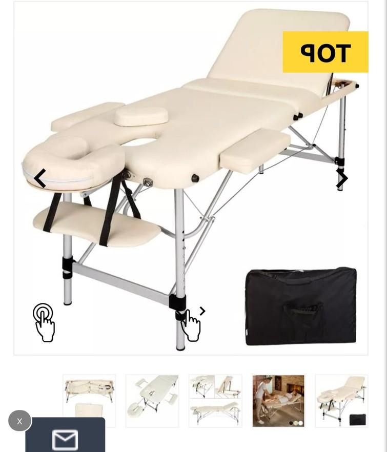 3 zone massage tafel wit