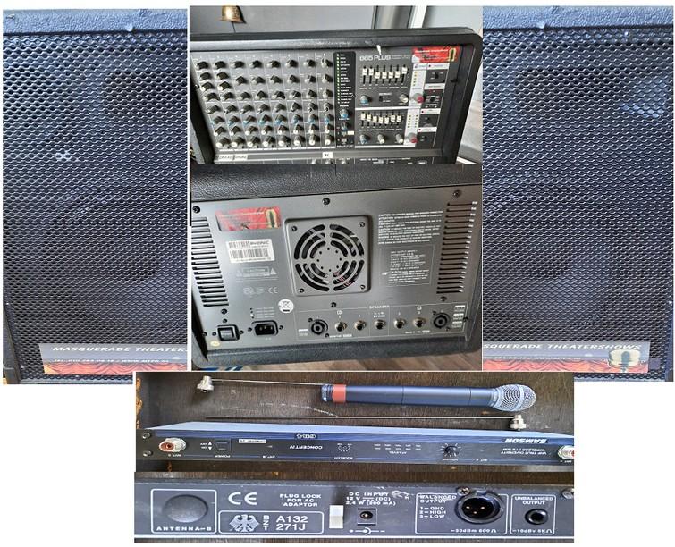 PA set voor presentatie en zang