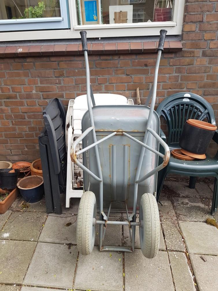 Kruiwagen met dubbel wiel