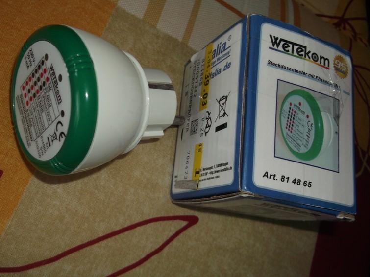Stopcontact tester aarding