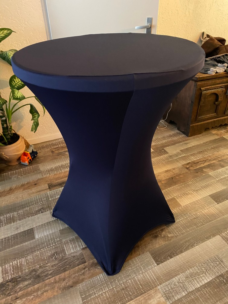 Statafel 80 cm breed incl donkerblauw hoes