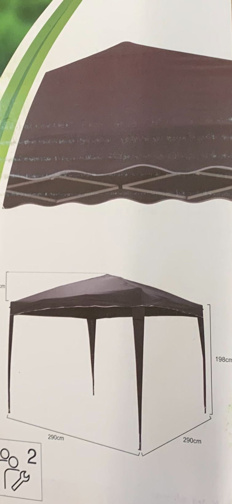 Partytent 3x3 meter .. easy up