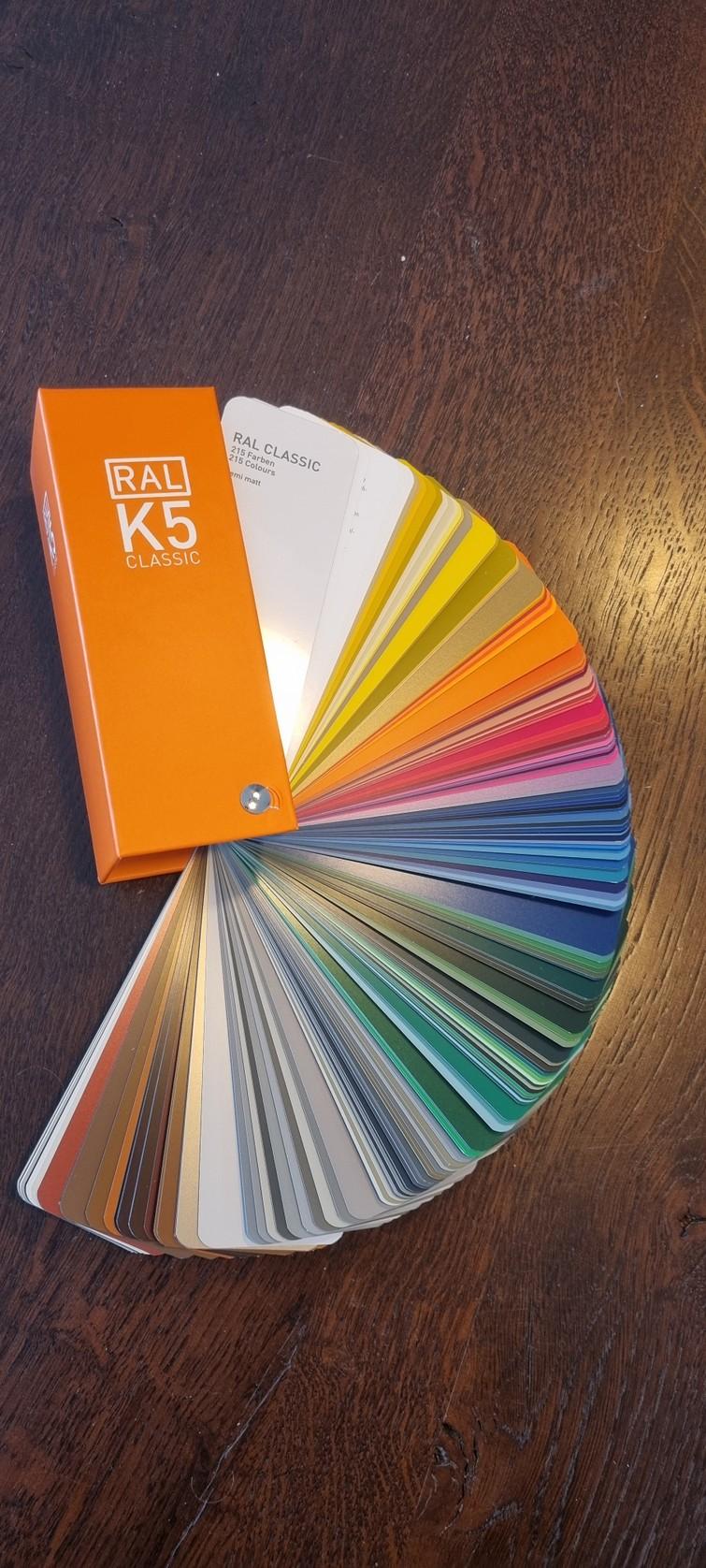 RAL kleurenwaaier semi mat
