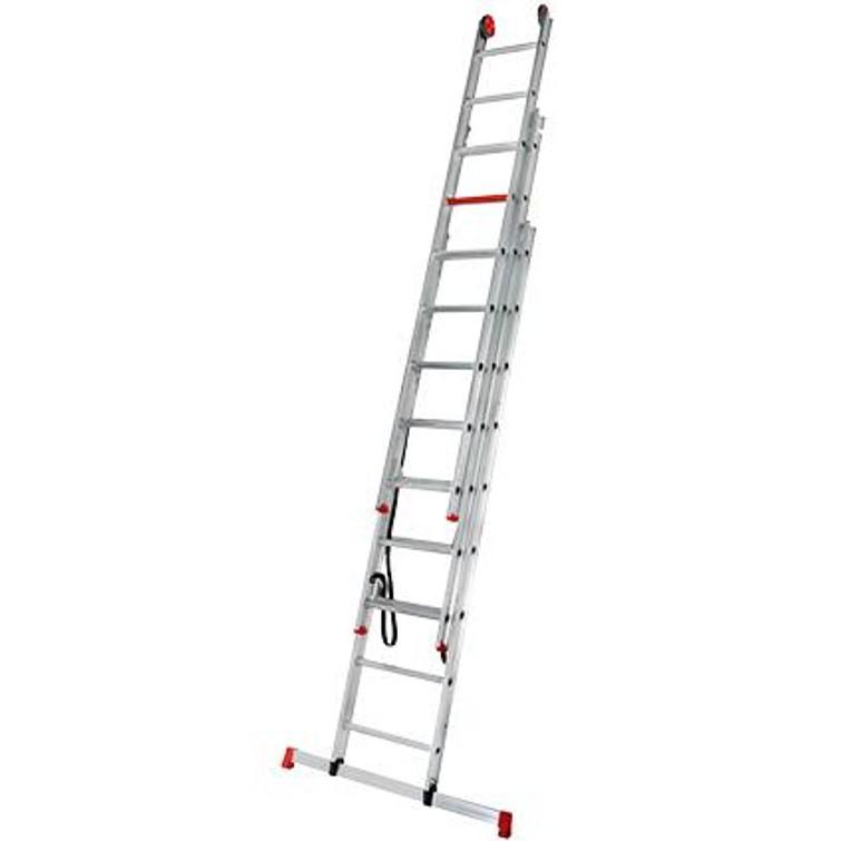 Altrex ladder 3 x 9 inclusief handig opzetstuk